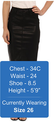 Blank NYC Faithful Pencil Vegan Leather Skirt in Pussy Cat