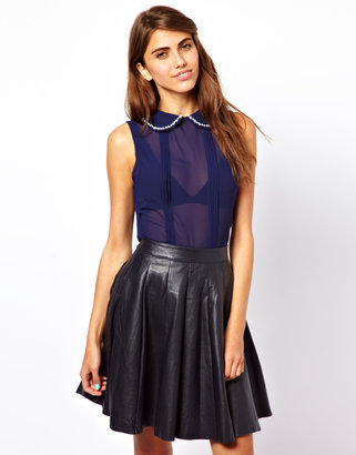 Lovestruck Blouse With Embellished Collar