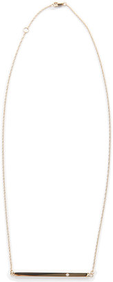 Jennifer Zeuner Jewelry Chelsea Horizontal Integrated Bar Necklace with Diamond
