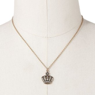 Rock & Republic Rock and republic gold tone simulated crystal crown pendant