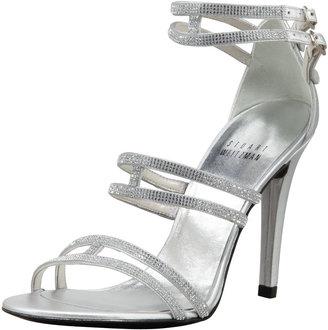 Stuart Weitzman Crystal Strappy Sandal, Silver