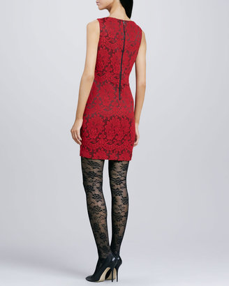 Alice + Olivia Donovan Fitted Lace Dress