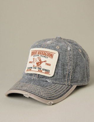 True Religion Hand Picked Denim Patch Baseball Cap