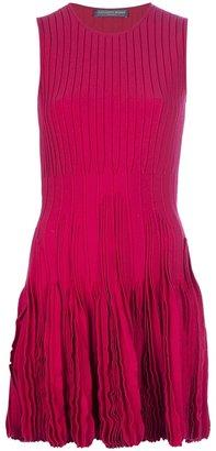 Alexander McQueen pleated sleeveless dress