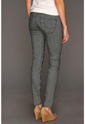 Big Star Alex Mid Rise Skinny Jean in Engineered Stripe (Engineered Stripe) - Apparel