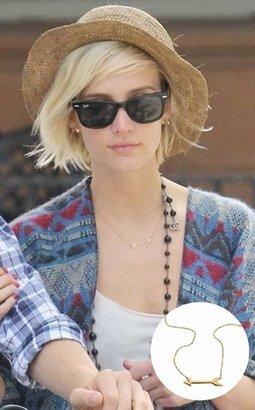 Jennifer Zeuner Jewelry Montana Arrow Necklace in Gold