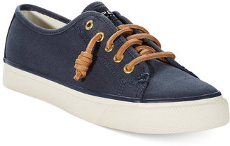 Sperry Women's Seacoast Canvas Sneakers $60 thestylecure.com