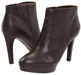 Rockport Janae Bootie (Dark Brown Smooth Calf) - Footwear
