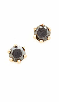 blanca monros gomez Little Black Diamond Stud Earrings $198 thestylecure.com