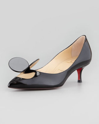 Christian Louboutin Madame Mouse Low-Heel Patent Red Sole Pump