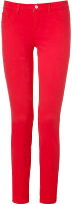 J Brand Bright Red Skinny Leg Pants