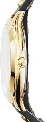 MICHAEL Michael Kors Michael Kors 'Slim Runway' Double Wrap Leather Strap Watch, 42mm