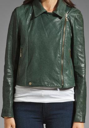 Jackson Washed Italian Lamb Skin Leather Jacket