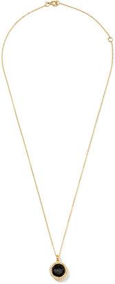Ippolita Rock Candy 18k Gold Mini Lollipop Necklace in Onyx & Diamond