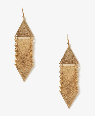 Forever 21 Stacked Triangle Earrings