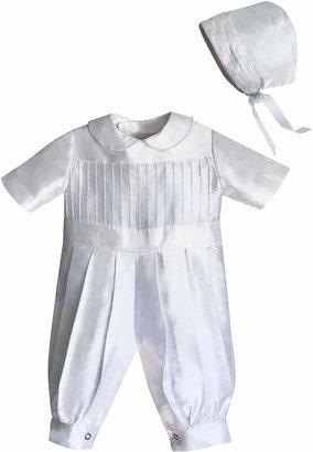 3c37c6981 Isabel Garreton Tucked Silk Romper & Bonnet