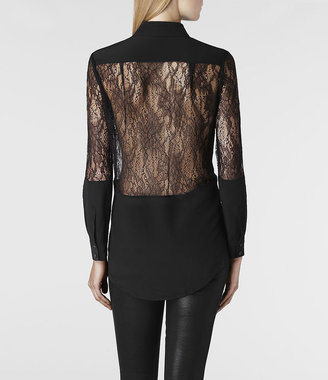 AllSaints Alix Nero Shirt