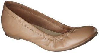 Merona Women's Emma Genuine Leather Flat - Tan