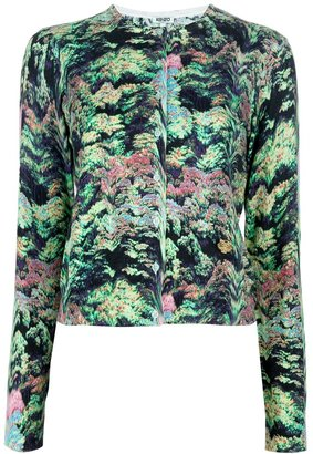 Kenzo abstract print cardigan