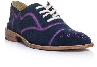 Esquivel Spray-paint suede brogue shoes