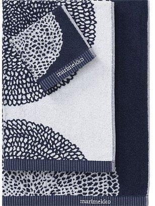 Marimekko Pippurikera Navy Washcloth.
