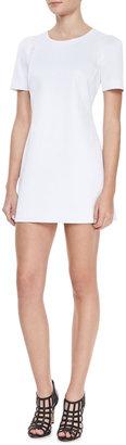 Milly Short Sleeved Shift Dress, White