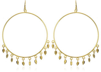 Wendy Mink Large Gold Circle Earrings