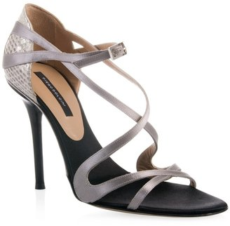 Diego Dolcini Leather and satin entwined sandal