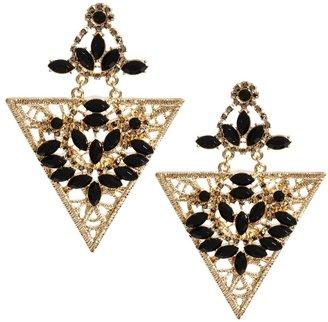 Asos Jewelled Filigree Triangle Earrings