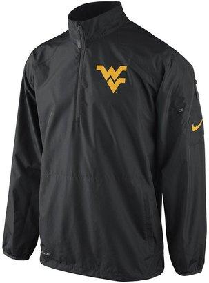 Nike west virginia mountaineers lockdown 1/2-zip performance jacket - men