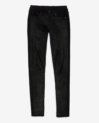 Rag and Bone Hyde Leather Panel Front: Coal/black