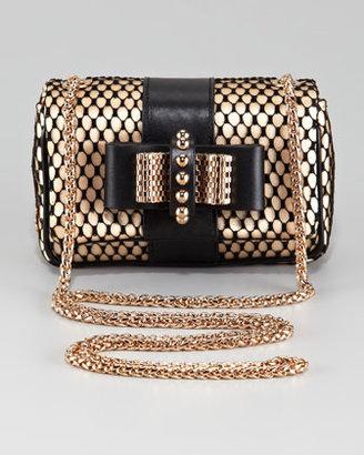 Christian Louboutin Sweet Charity Satin-Lace Clutch Bag