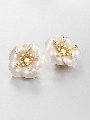Miu Miu Flower Clip-On Earrings