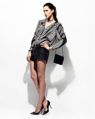 Mason by Michelle Mason Moto Leather Shorts