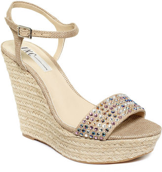 INC International Concepts Women's Shoes, Peach Platform Wedge Sandals