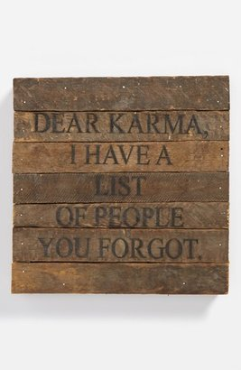 Second Nature By Hand 'Dear Karma' Repurposed Wood Wall Art