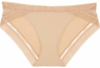 Calvin Klein Underwear - Icon Stretch-satin Briefs - Neutral $20 thestylecure.com