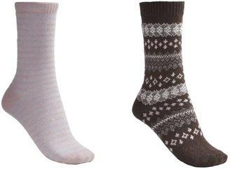 B.ella Fair Isle and Stripe Socks - 2-Pack (For Women)