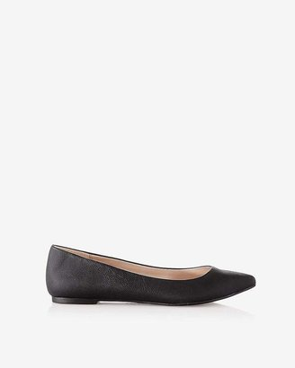 Express Textured Pointed Toe Flats