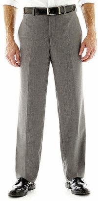 Jf J.Ferrar Men's JF Gray Sharkskin Flat-Front Classic Fit Suit Pants