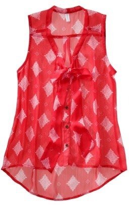 Xhilaration Juniors Sleeveless Low Bow Top - Assorted Colors