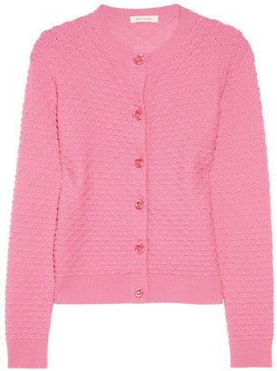 Marc Jacobs Scallop-knit cashmere cardigan