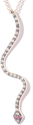 Ileana Makri Diamond, ruby & pink gold necklace
