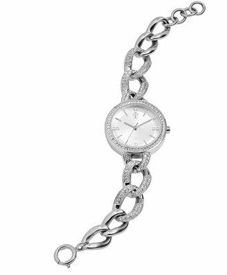 Jennifer Lopez Women's Crystal Stainless Steel Watch $145 thestylecure.com