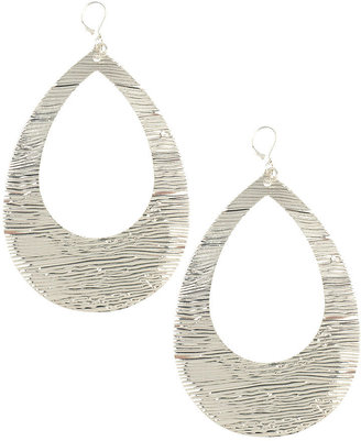 Forever 21 Large Textured Tear Earrings