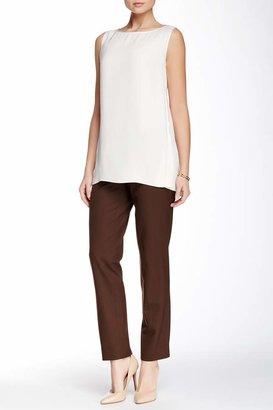 Lafayette 148 New York Modern Slim Leg Wool Blend Pant