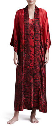 Natori Phoenix Long Sateen Robe
