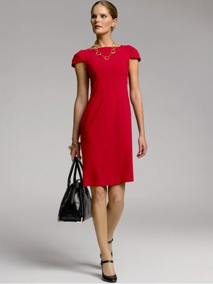 Banana Republic BR Monogram cap-sleeve sheath dress