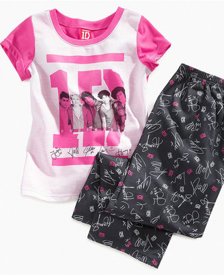 AME Kids Set, Girls or Little Girls 2-Piece One Direction Pajamas with Top and Pants