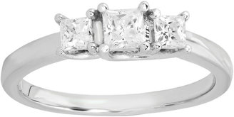 JCPenney FINE JEWELRY Love Lives ForeverTM 1/2 CT. T.W. Certified Diamond Princess-Cut 3-Stone Ring